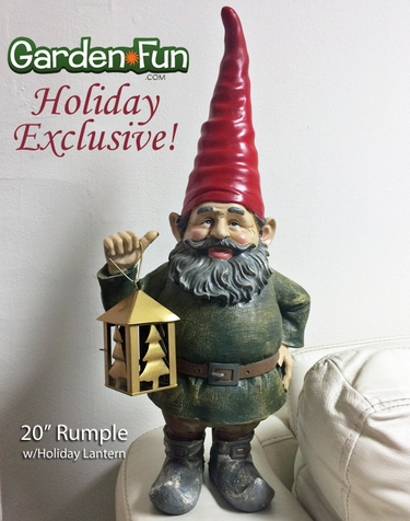 Holiday Rumple Gnome w/Lantern - Click to enlarge