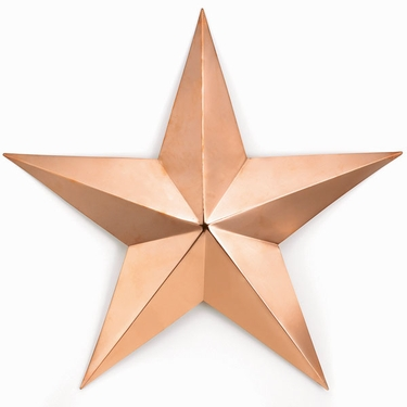 Copper Barn Star - Wall Decor - Click to enlarge