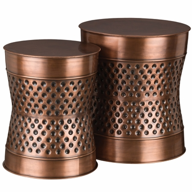 Copper Dot Garden Stools & Planters (Set of 2) - Click to enlarge