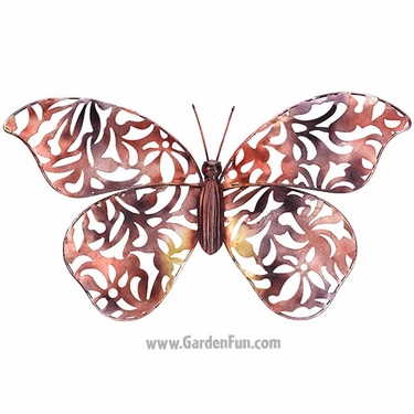 Copper Lace Butterfly Wall Decor - Click to enlarge