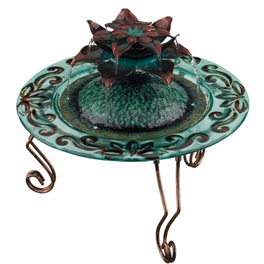 Copper Lotus Tabletop Fountain - Click to enlarge