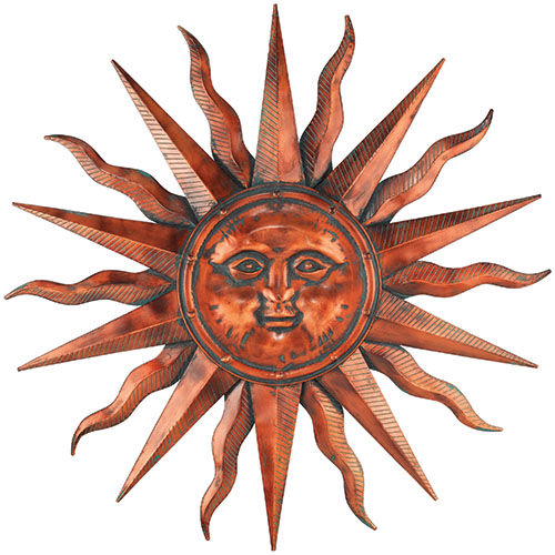 Sun Wall Art copper patina sun wall art only $169.99 at garden fun