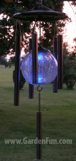 Copper Solar Wind Chime - Click to enlarge