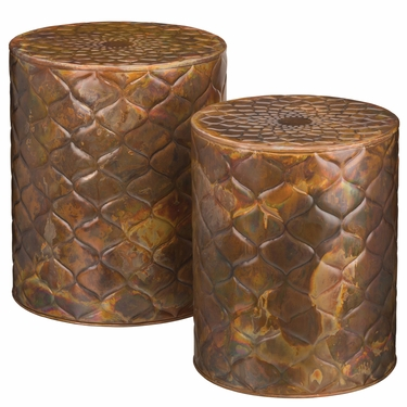 Copper Trellis Garden Stools & Planters (Set of 2) - Click to enlarge