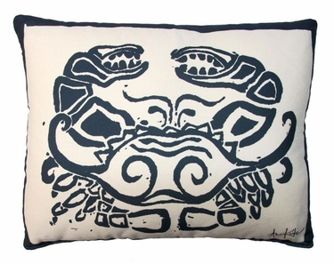 Crab Block Outdoor Pillow - Click to enlarge