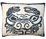 Crab Block Outdoor Pillow