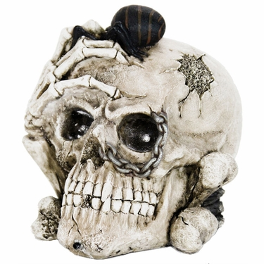 Creepy Skull w/Color Changing LED Eyes & Timer - Click to enlarge