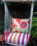 Cristina Stripe Aviary Bumblebee Hammock Chair Swing Set