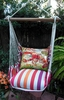 Cristina Stripe Fresh Lobster Hammock Chair Swing Set