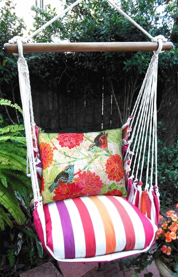 Cristina Stripe Nature Birds Hammock Chair Swing Set - Click to enlarge
