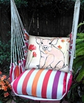 Cristina Stripe Piglet Hammock Chair Swing Set