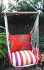 Cristina Stripe Sunburst Circles Hammock Chair Swing Set