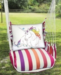 Cristina Stripe Unicorn Hammock Chair Swing Set