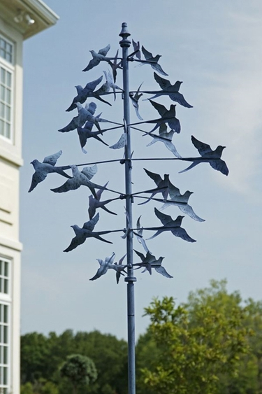 Dancing Bluebirds Wind Spinner - Click to enlarge