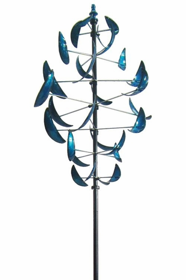Dancing Leaves Wind Spinner - Blue - Click to enlarge
