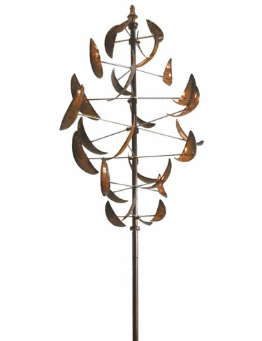 Dancing Leaves Wind Spinner - Copper - Click to enlarge