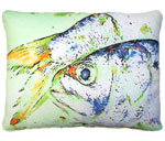Dead Bait Fish Outdoor Pillow