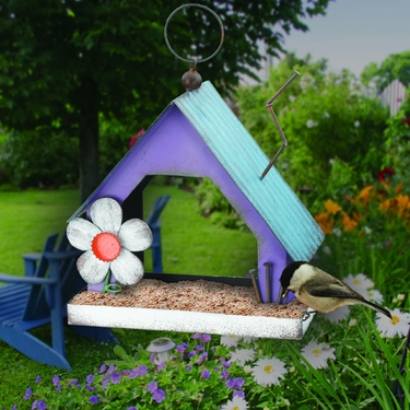 Folk House Bird Feeder - Click to enlarge