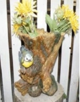 Decorative Tree Stump Planter