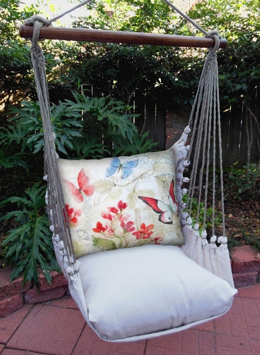 Delicate Butterflies Hammock Chair Swing Set - Click to enlarge