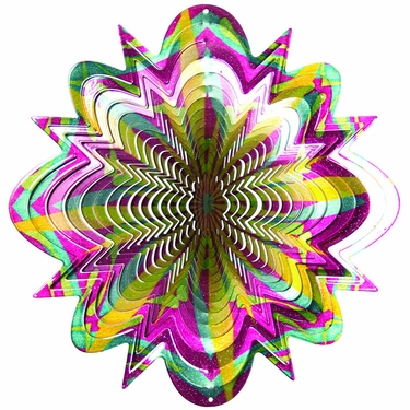 Designer Cosmic Splash Wind Spinner - Click to enlarge