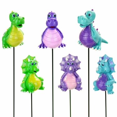 Dinosaur Garden Stakes (Set of 6) - Click to enlarge