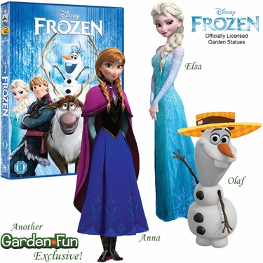 Disney's Frozen Garden Statues w/ Frozen DVD! - Click to enlarge