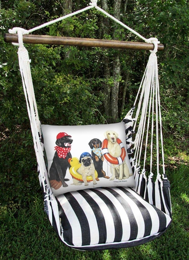 Dogs of Summer Hammock Chair Swing Set - Click to enlarge