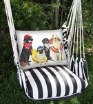 Dogs of Summer Hammock Chair Swing Set