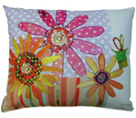 Dotted Daisies Outdoor Pillow