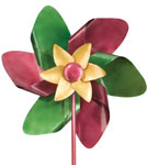 "19"" Double Pinwheel Wind Spinner"