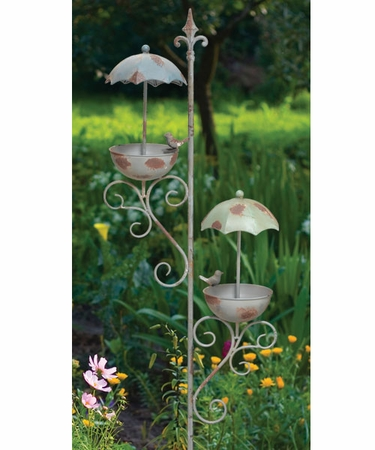 Double Umbrella Bird Feeder Stake - Click to enlarge