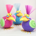Nerdy Bird Statues (Pink/Blue/Purple)