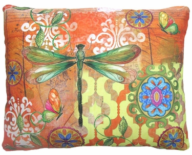 Dragonfly Flight Outdoor Pillow - Click to enlarge