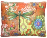 Dragonfly Flight Outdoor Pillow