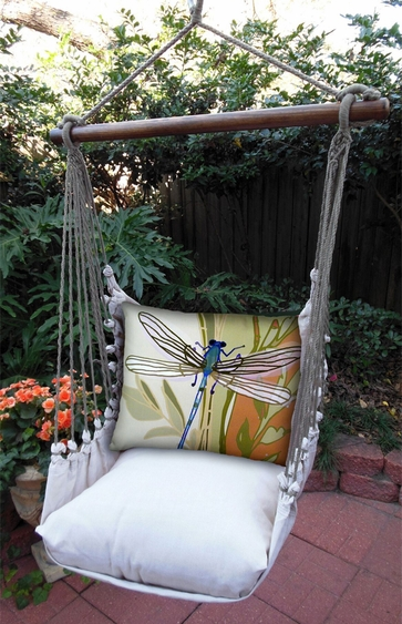 Dragonfly Garden Hammock Chair Swing Set - Click to enlarge