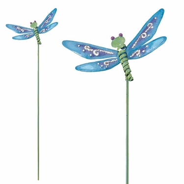 Charmant Dragonfly Garden Stakes (Set Of 6)