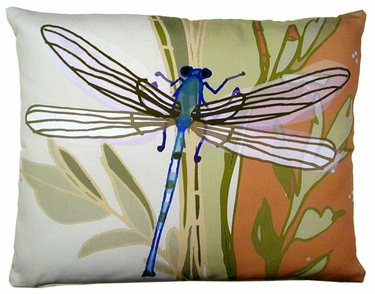 Dragonfly Outdoor Pillow - Click to enlarge
