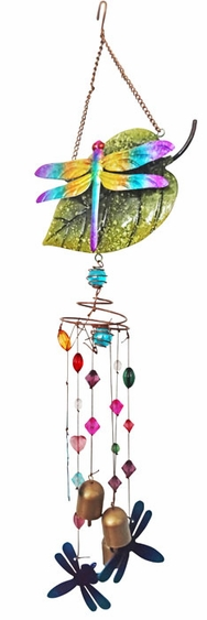 Dragonfly Wind Chime w/Jewels - Click to enlarge
