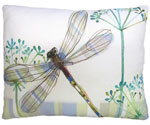 Dragonfly Wisp Outdoor Pillow