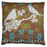 Duet Bird 4 Outdoor Pillow