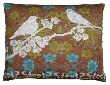 Duet Bird 4 Outdoor Pillow - Click to enlarge