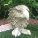 Eagle Mascot Planter - Antique Finish