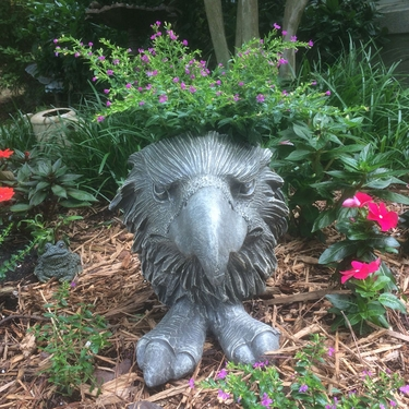 Eagle Mascot Planter - Graystone Finish - Click to enlarge
