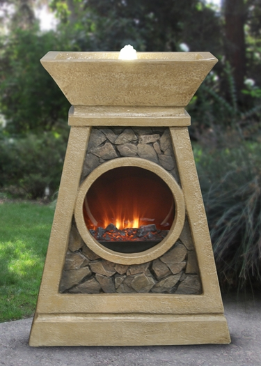 Earth, Air, Fire & Water Elements LED Fountain - Click to enlarge