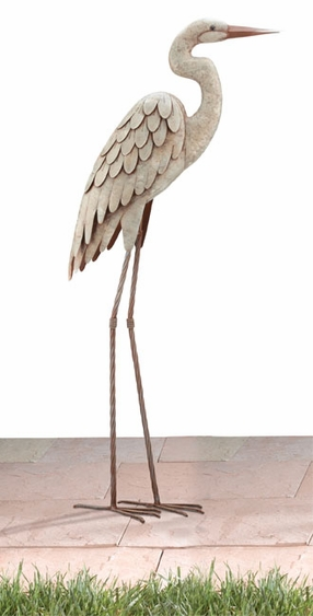 Egret Bird Garden Decor - Click to enlarge