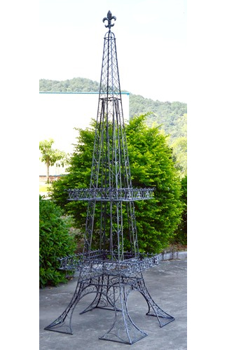Eiffel Tower Plant Stand - Silver Moss - Click to enlarge