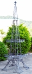 Eiffel Tower Plant Stand - Frosted Silver