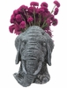 Elephant Mascot Planter - Graystone Finish