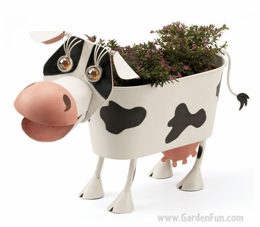 Elke the Cow Planter Decor - Click to enlarge